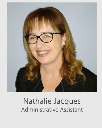 Nathalie Jacques, administrative assistant
